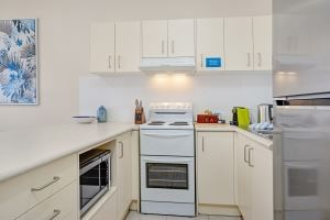 A Fully Equipped Kitchen at Mayfield Short Stay Apartments.