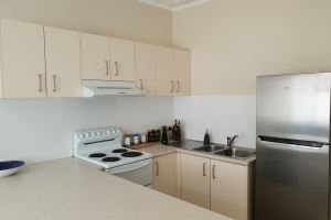 One of the Fully Equipped Kitchens at Mayfield Short Stay Apartments.